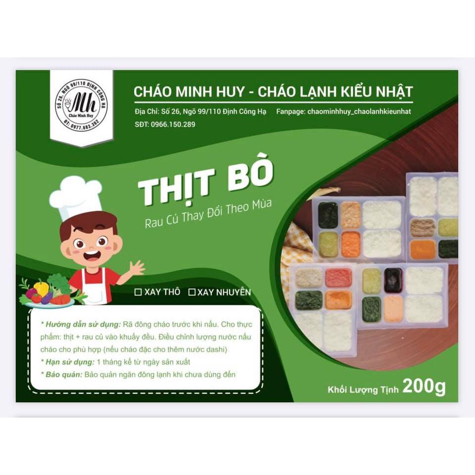 Nấu cháo cho bé ăn dặm với thịt bò